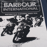 Мужская футболка Barbour International Racing Navy фото- 2