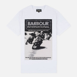 Мужская футболка Barbour International Racing White фото- 0