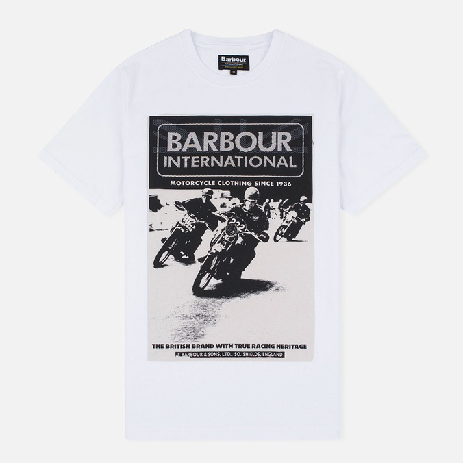 Мужская футболка Barbour International Racing White