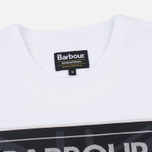 Мужская футболка Barbour International Racing White фото- 1