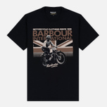 Мужская футболка Barbour International Rider Black фото- 0