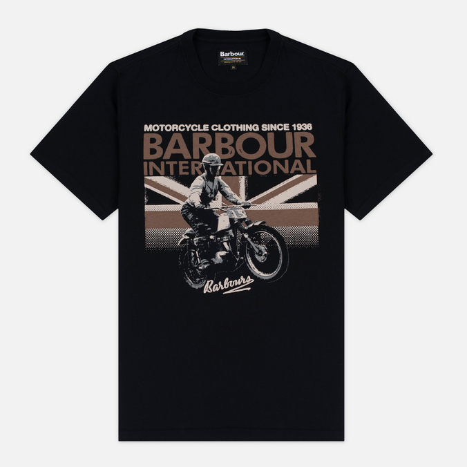 Мужская футболка Barbour International Rider Black