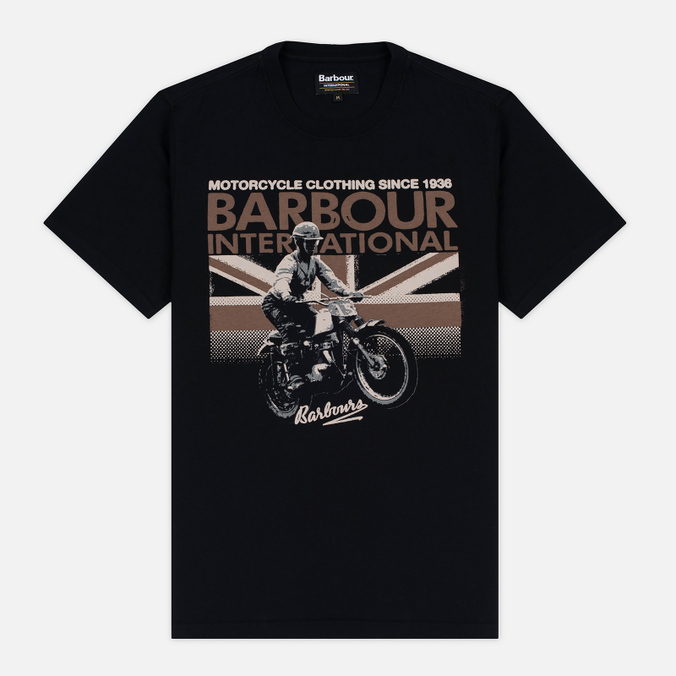 Barbour International Rider Men's T-shirt Black