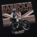 Мужская футболка Barbour International Rider Black фото- 3