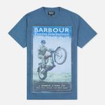 Мужская футболка Barbour International Rider Blue фото- 0