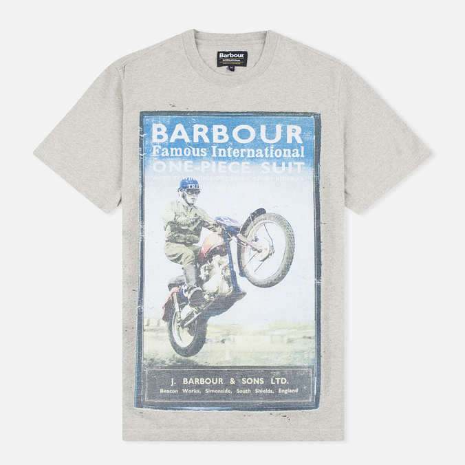 Мужская футболка Barbour International Rider Fog