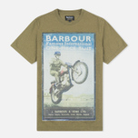 Barbour International Rider Men's T-shirt Nort Green photo- 0