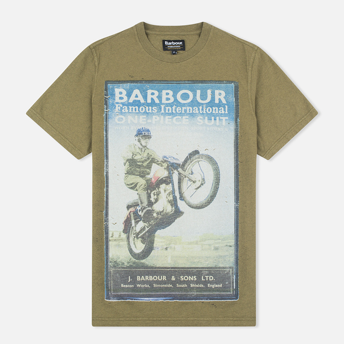 Barbour International Rider Men's T-shirt Nort Green