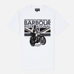 Мужская футболка Barbour International Rider White фото- 0