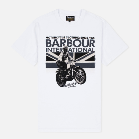 Мужская футболка Barbour International Rider White