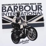 Мужская футболка Barbour International Rider White фото- 2