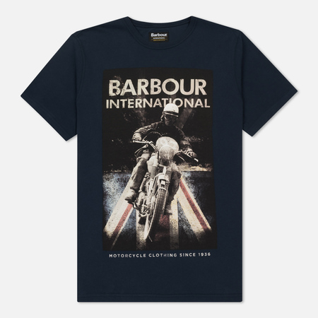 Мужская футболка Barbour International Shift Navy