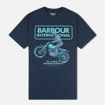 Мужская футболка Barbour International Sport Rider Navy фото- 0
