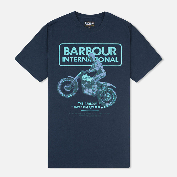 Мужская футболка Barbour International Sport Rider Navy
