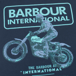Мужская футболка Barbour International Sport Rider Navy фото- 2