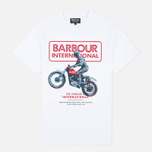 Мужская футболка Barbour International Sport Rider White фото- 0