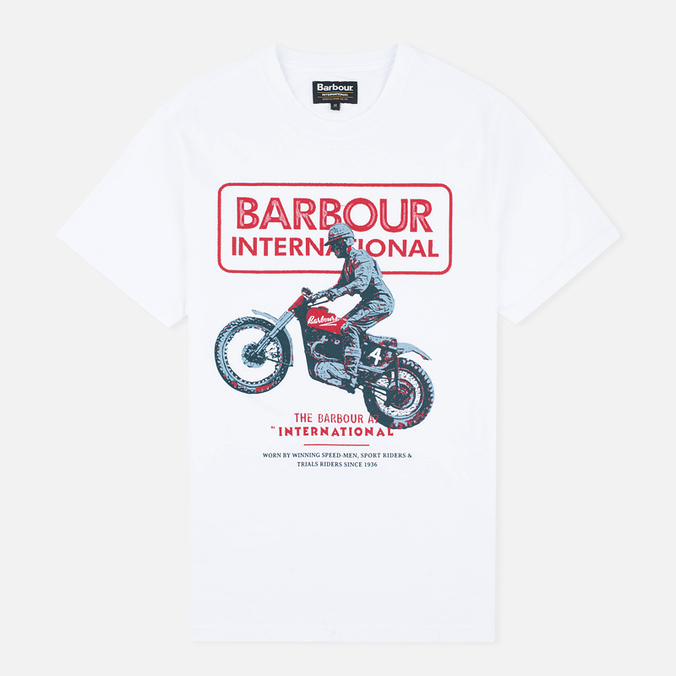 Мужская футболка Barbour International Sport Rider White