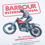 Мужская футболка Barbour International Sport Rider White фото- 2