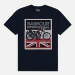Мужская футболка Barbour International Trophy 36 Navy фото- 0