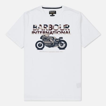 Мужская футболка Barbour International Union Racer White