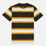 Barbour Kinross Striped Man's T-Shirt Forest photo- 0