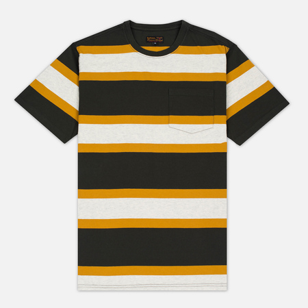 Barbour Kinross Striped Man's T-Shirt Forest