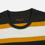 Barbour Kinross Striped Man's T-Shirt Forest photo- 2