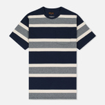 Мужская футболка Barbour Kinross Striped Navy фото- 0
