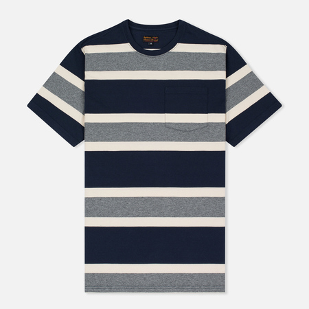 Barbour Kinross Striped Man's T-Shirt Navy