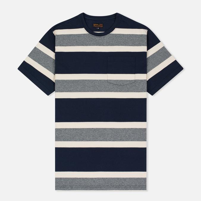 Мужская футболка Barbour Kinross Striped Navy