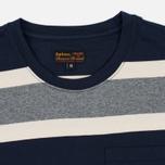 Мужская футболка Barbour Kinross Striped Navy фото- 1