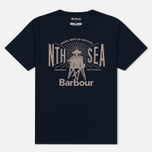Мужская футболка Barbour North Sea Navy фото- 0