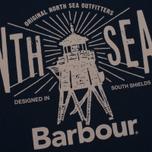 Мужская футболка Barbour North Sea Navy фото- 2