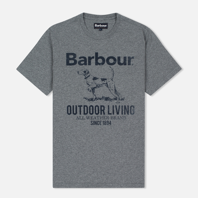 Barbour Outdoor Men's T-shirt Grey Marl