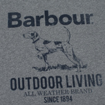 Barbour Outdoor Men's T-shirt Grey Marl photo- 2