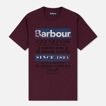 Barbour Purveyor Men's T-shirt Merlot