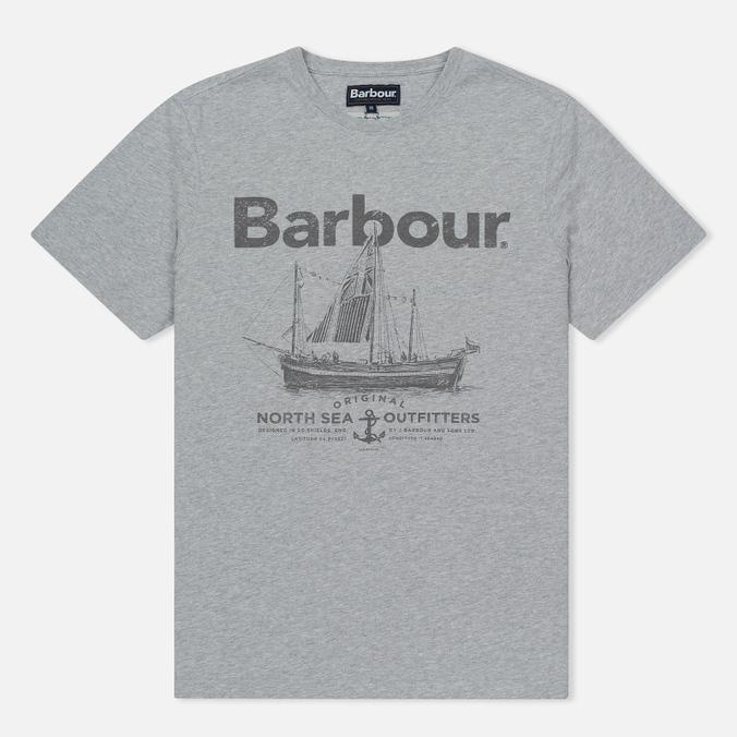 Мужская футболка Barbour Sailboat Light Grey Marl