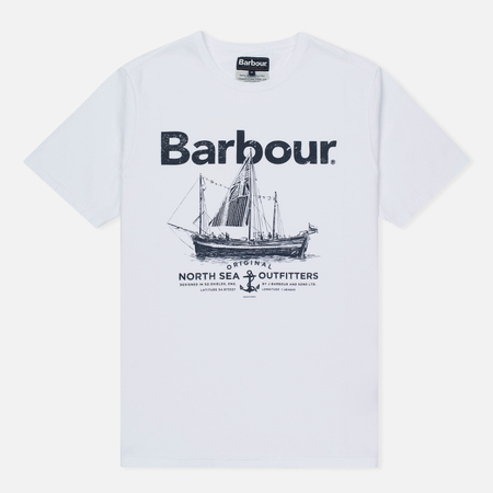 Мужская футболка Barbour Sailboat White