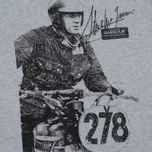 Barbour x Steve McQueen International Breakout Men's T-shirt Grey Marl photo- 2