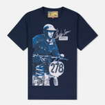 Мужская футболка Barbour x Steve McQueen International Breakout New Navy фото- 0