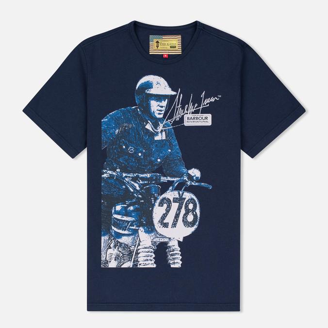 Мужская футболка Barbour x Steve McQueen International Breakout New Navy