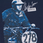 Мужская футболка Barbour x Steve McQueen International Breakout New Navy фото- 2