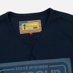 Мужская футболка Barbour x Steve McQueen International Control Navy фото- 1