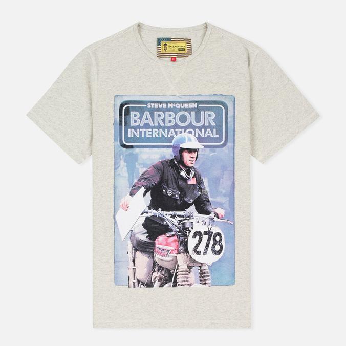 Мужская футболка Barbour x Steve McQueen International Control Neutral Marl
