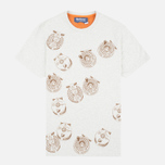 Barbour x White Mountaineering Komi Men's T-shirt Ecru Marl photo- 0