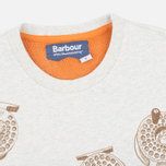 Barbour x White Mountaineering Komi Men's T-shirt Ecru Marl photo- 1