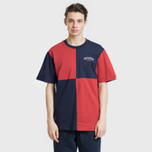 Мужская футболка Billionaire Boys Club Diagonal Cut & Sew Red/Blue фото- 1