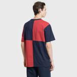 Мужская футболка Billionaire Boys Club Diagonal Cut & Sew Red/Blue фото- 3