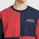 Мужская футболка Billionaire Boys Club Diagonal Cut & Sew Red/Blue фото- 2