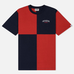 Мужская футболка Billionaire Boys Club Diagonal Cut & Sew Red/Blue фото- 0